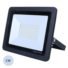 LED 50W Slimline Black Exterior Flood Cold White