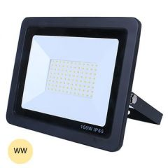 LED 30W Slimline Black Exterior Flood Warm White