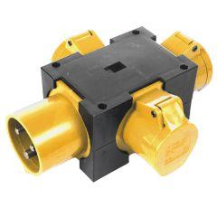 32A 110V Black Box Solid Adaptor