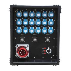 Ex-demo TITAN 125A Distribution Board 415v to 18 x 16A, 3 x Socapex Outlets and A USB charging socket
