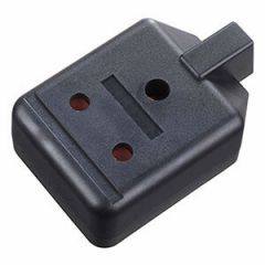 Black Heavy Duty Plastic 15 Amp Single Trailing Socket, 250 Volt, 3 Pin by Permaplug