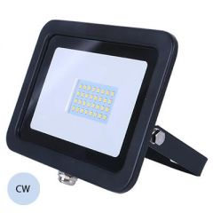 LED 20W Slimline Black Exterior Flood Cold White
