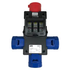 32A 415V Solid Adaptor 3 x 32A 240V out with MCBs