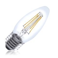 Dimmable LED 4.5W ES Candle Clear Filament Warm White