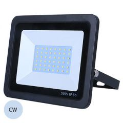 LED 10W Slimline BLACK Exterior Flood Cold White