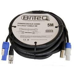 5m Combined XLR and Powercon Cable