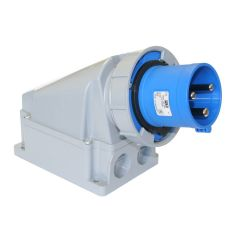 inlet wall mount 240v 125a ip67