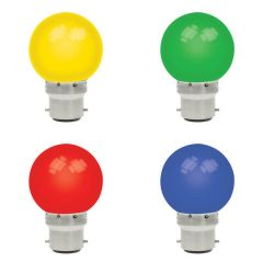 1w LED Golfball Blue BC Non Dimmable