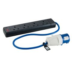 BUDGET 16A Plug to 4 x 13A Socket Fly Lead