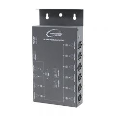 DMX Amplifier and 8 Way Splitter front angle