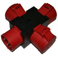 32A 415V Solid Adaptor to 3 x 32A 415 out