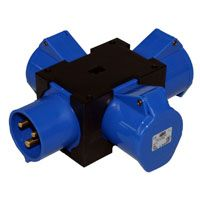 32A 240V Solid Adaptor 3 x 32A 240V out