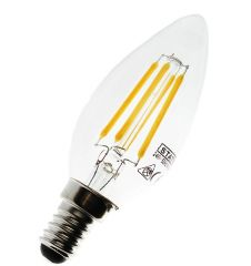 LED Candle Lamp 3.5w and Dimmable SES
