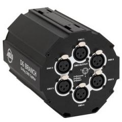 DMX Amplifier and 7 Way Splitter Ideal for Truss Mounting