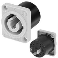 PowerCON Grey Mains Output 3 Pin 20A Panel Mount