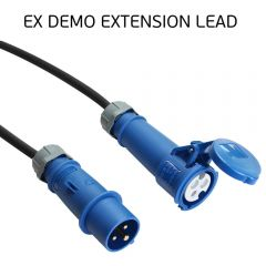 EX DEMO - 5m Extension Cable 16A 230V with 2.5mm Black Rubber HO7 Cable
