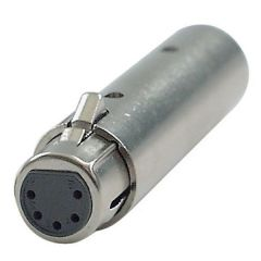 XLR Adaptor 3 pin male to 5 pin Female for DMX - Solid Type