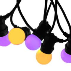 Spooky Halloween Festoon Lighting 10m with Coloured Bulbs and 13A Plug - Indoor Use only