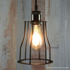 Lamp Cage Bell Black