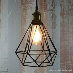Lamp Cage Diamond Black