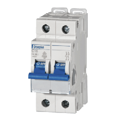 Miniature Circuit Breakers 16A 2 Pole Type C by Doepke