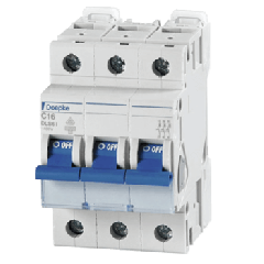 Miniature Circuit Breakers 16A Three Pole Type D by Doepke