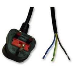 13A Economy Plug moulded to bare ends 2m