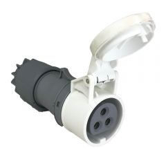Connector / Socket 16A 42v IP44 3 Pole / Pin by PCE 283