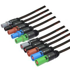 POWERLINE 150mm 500A 2M Rubber Extension Cable