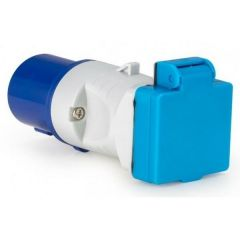 Blue 16 Amp to 13 Amp Budget Socket Adaptor IP44 by Defender