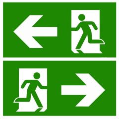 Legend Stickers for Emergency Exit Signs