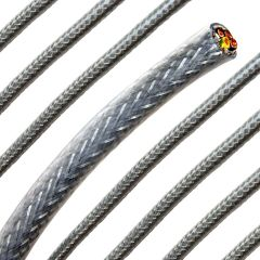 6mm Steel Braided Polyvinyl Chloride, 3 Core Cable
