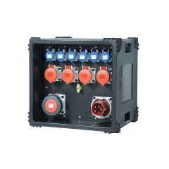 TITAN 63A Distribution Board 415v to 6 x 16A 230v, 4 x 32A & 1 x 63A 415v Outlets