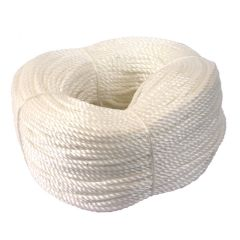 8mm White Polypropylene Rope 220m