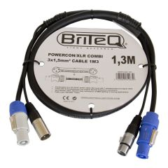 1.3m Combined XLR and Powercon Cable