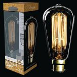 60W Steeple Squirrel Cage Filament Lamp BC