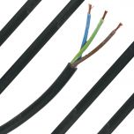 1.5mm Black PVC 3 Core Cable