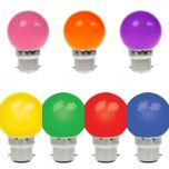10 x Coloured BC Golf Ball Lamps Festoon Package