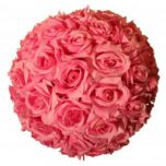"12"" Pink Rose Flower Ball"