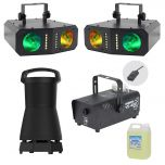 The Ultimate Home Party Package - Flashing Colour Lights, Strobe, Smoke Machine, 360 High Quality Outdoor Portable Speaker