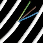 0.75mm White PVC 3 Core Cable