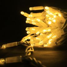 Fairy Lights White Cable 30 x Warm White LEDS 3.3M
