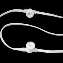 WHITE CONNECTABLE FESTOON 10M WITH 10 ES LAMPHOLDERS (1M SPACING)