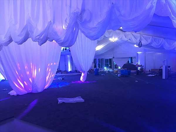 LLechwen Hall Bespoke Event Lighting Design